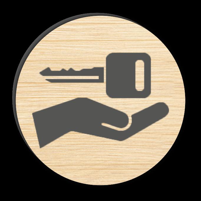 יד עם מפתח אייקון